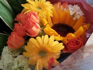 手作りの花束をプレゼント♪