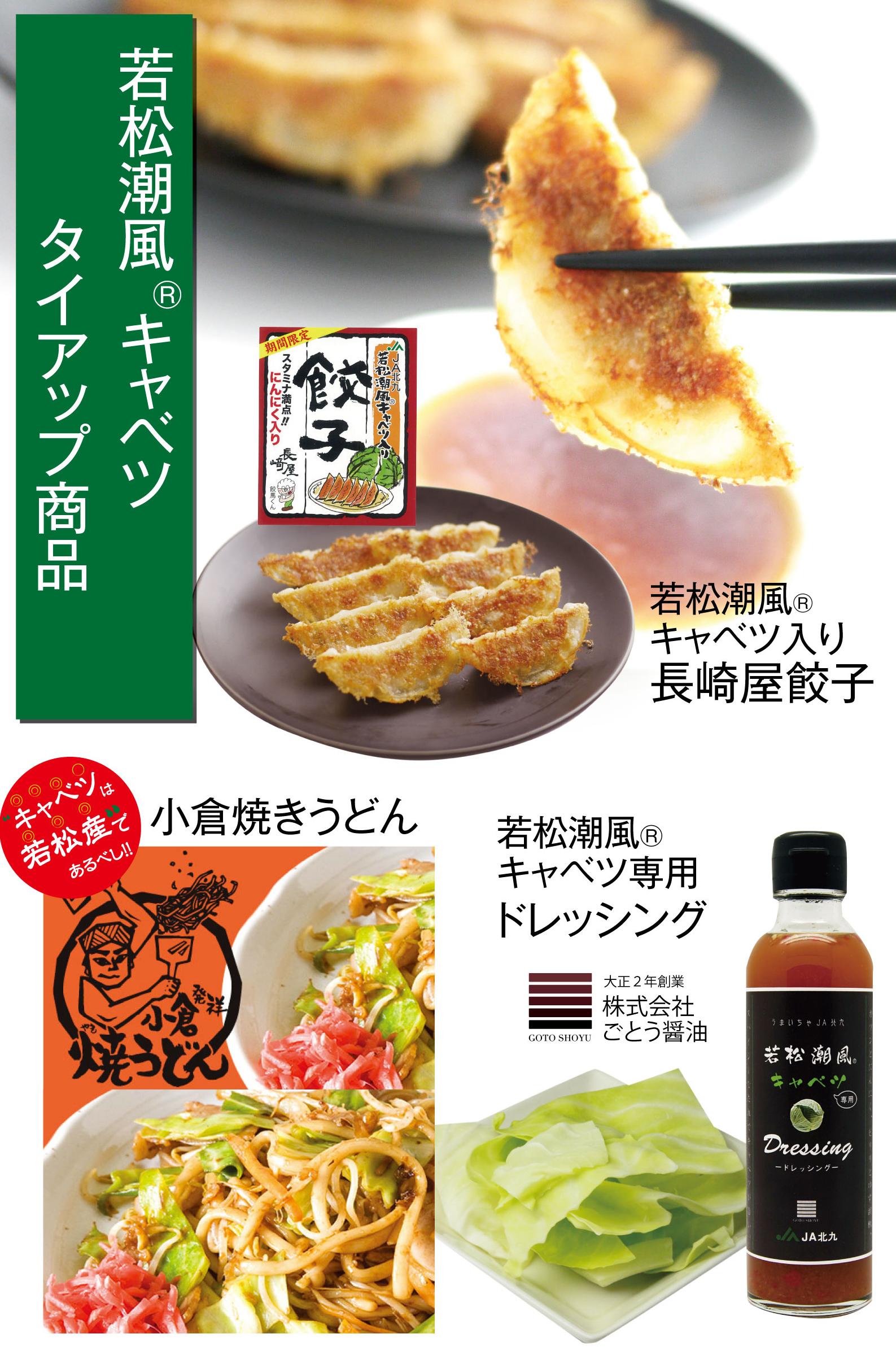 若松潮風キャベツタイアップ商品POP