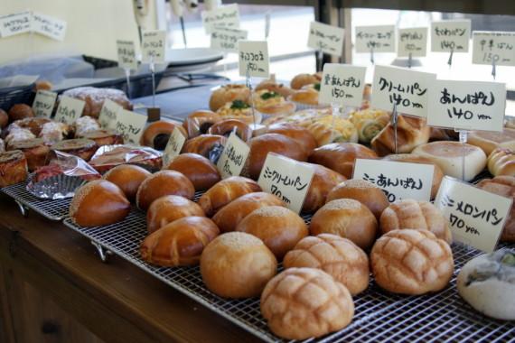 毎日約30種類程度焼かれるパンたち